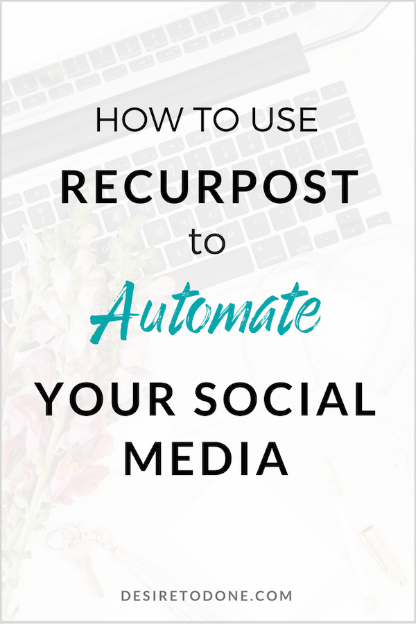 Stop wasting time curating social media posts and only using them once! Reshare posts, grab posts from your favorite bloggers, and organize your updates easily with RecurPost!