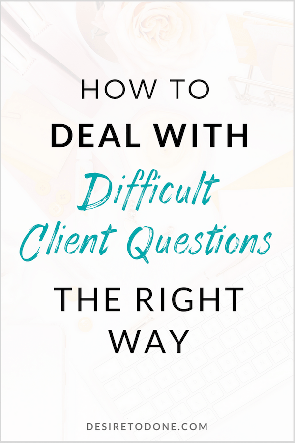 It can feel really uncomfortable when a client asks a question you don't have an answer to. I mean, you don't want to look foolish, unprofessional, or not get a job you want, right? There's a way around this sticky situation. I cover what to say and how to turn this problem into an opportunity to impress your client.