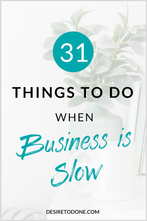 Ups and downs are just a part of running a business. Make the most of this time to improve your business, increase your profits, and make some needed changes. Before you know it, you'll be looking back at this time fondly and feeling grateful that you had the space to do the things you did! #businesstips #girlboss