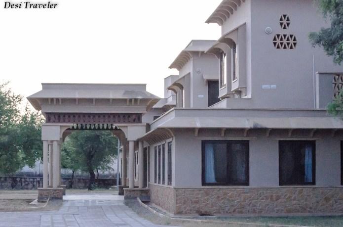 The bunglow style Tal Chapar Forest rest house