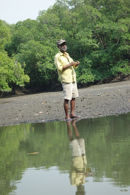Fisherman Angling in Andamans