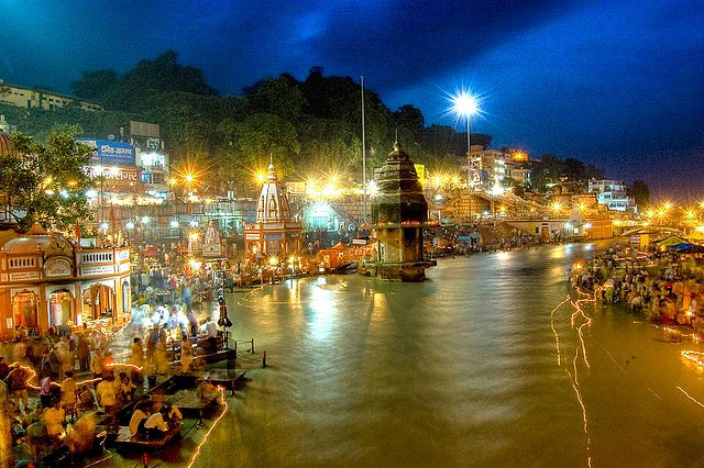 Evening Arti on Ganges bank in Haridwar