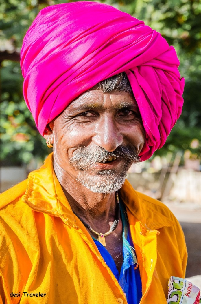 Man with mustache wearing turban