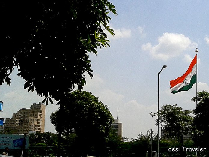 Largest tricolor national flag India Delhi