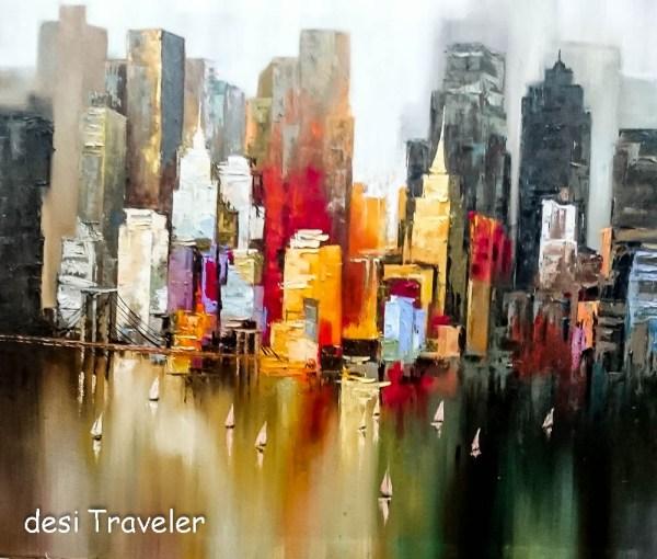 New York Skyline Painting