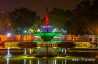 Fountains in Night near India Gate