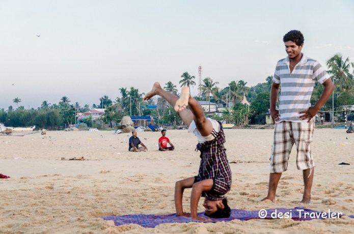 Yoga on Kerala Beach