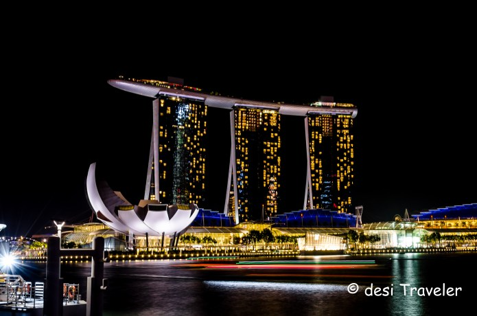 Marina Bay Sands Hotel night picture