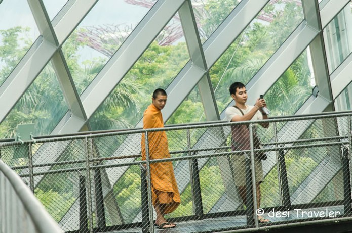 Monk in Singapore Gardens By the bay