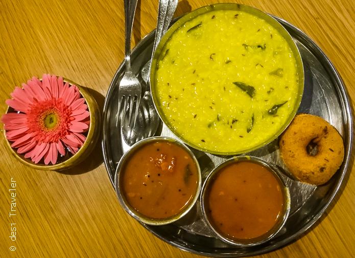 Bangalore Airport pongal sambhar breakfast