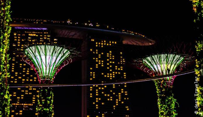 Supertree Show Singapore Skywalk Gardens By The Bay