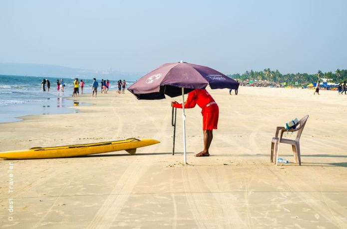 Lifeguard on duty Goa Beach