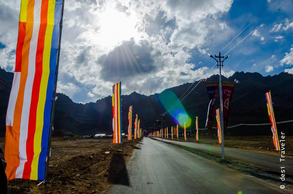Road to Hemis Monastery