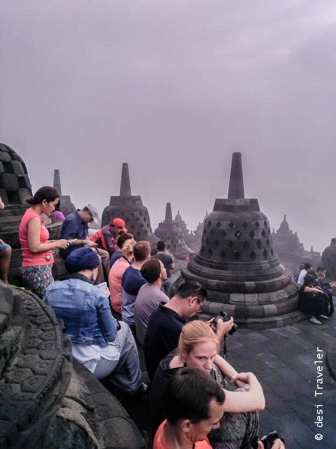 Photographers at Borobudur