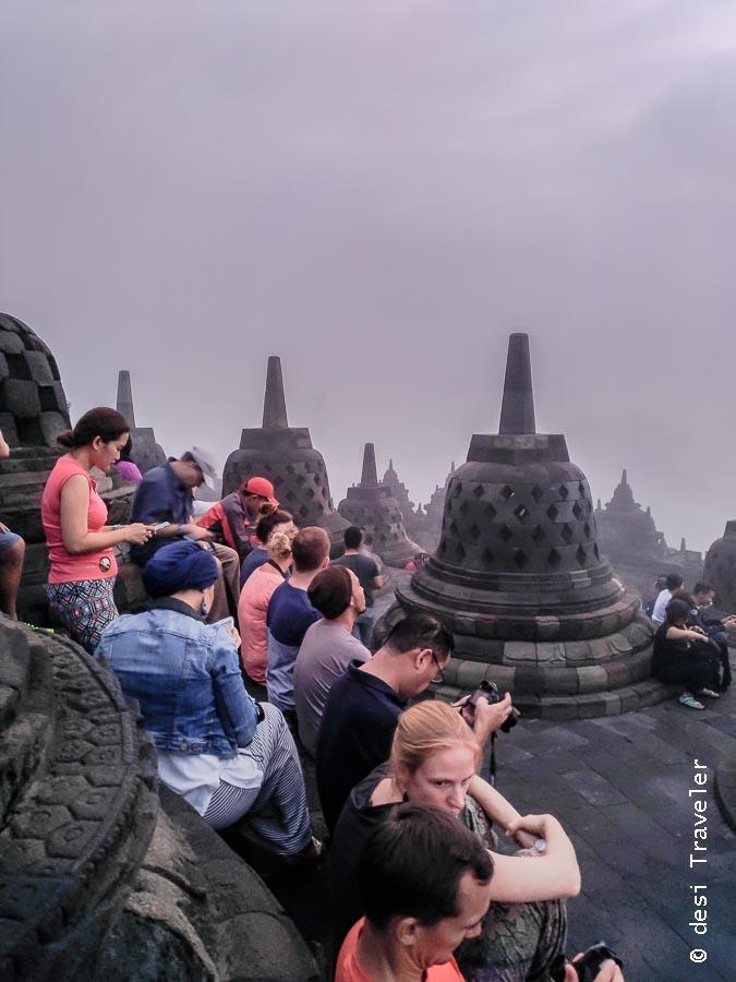 Photographers at Borobudur