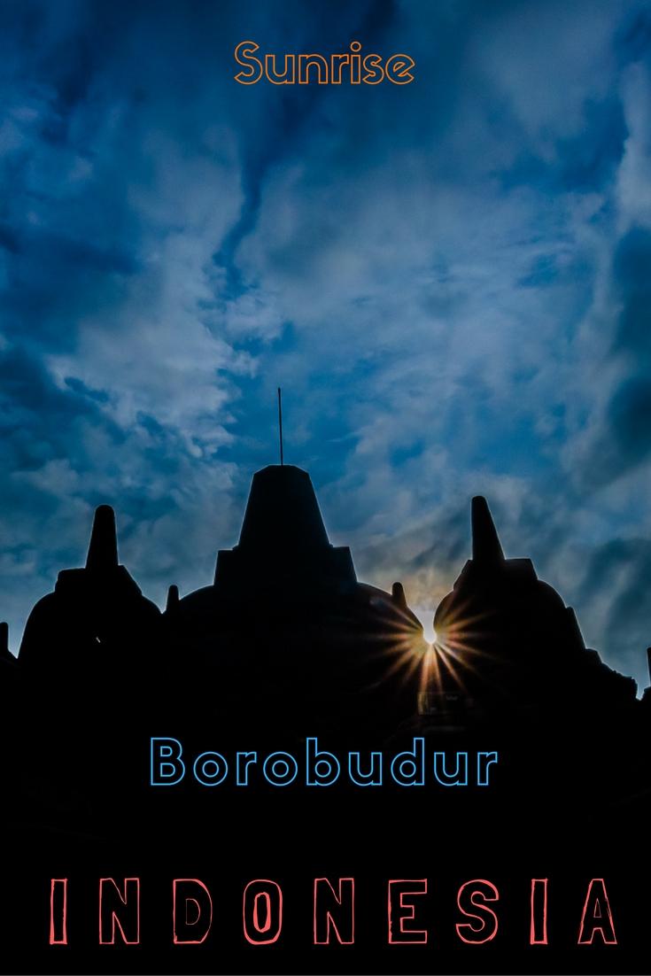 Sunrise Borobudur Temple Indonesia