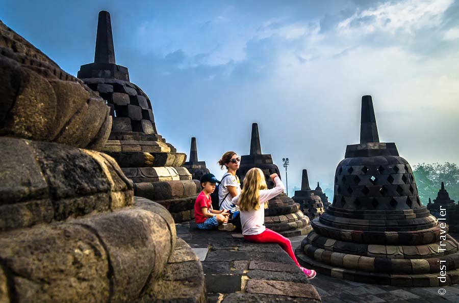 American tourists at Borobudur