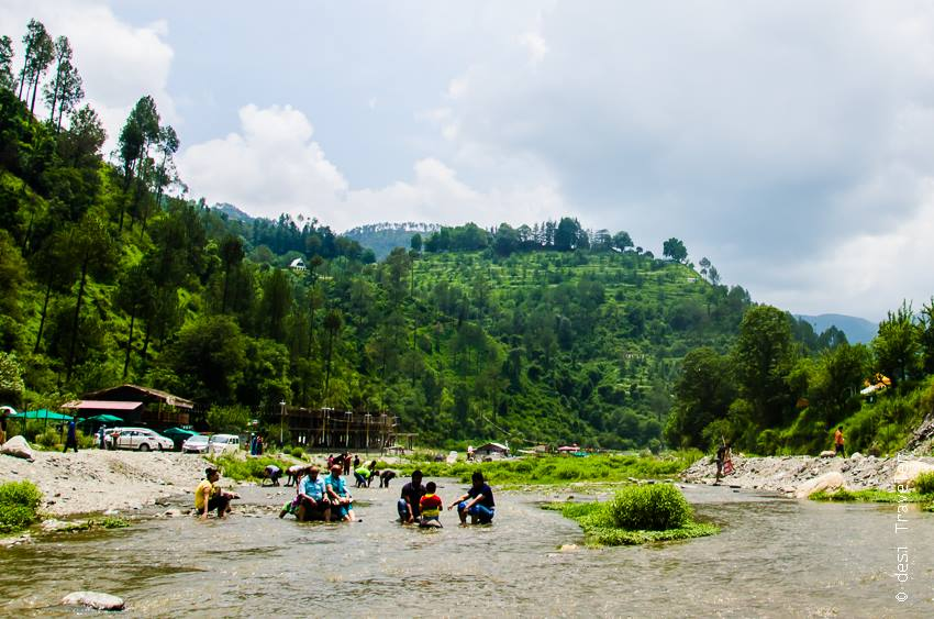 Picnic point Sadhupul River Bank Himachal Pradesh