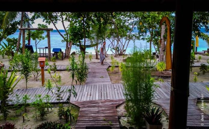Beach view Raja Ampat Dive Lodge