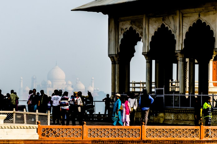 Taj Mahal seen from Agra Fort