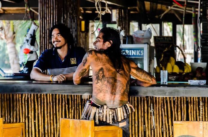 Thai man with Shiva and Elephant Tattos