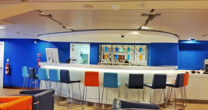 The business lounge of flydubai at Dubai Airport T2