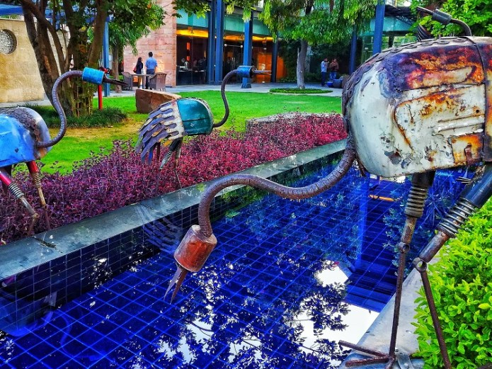 Junk metal art Taj Gateway Resort Damdama Gurgaon Review