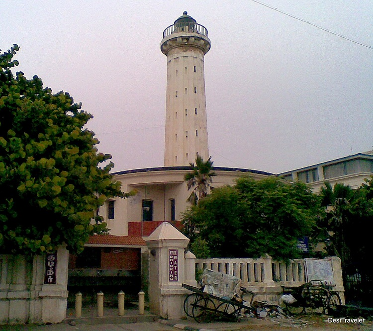 Old light house beach road Pondicherry
