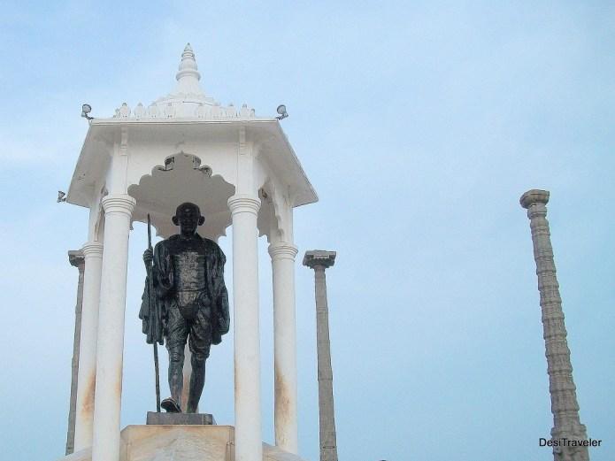 Gandhi Statue on Beach Road Pondicherry