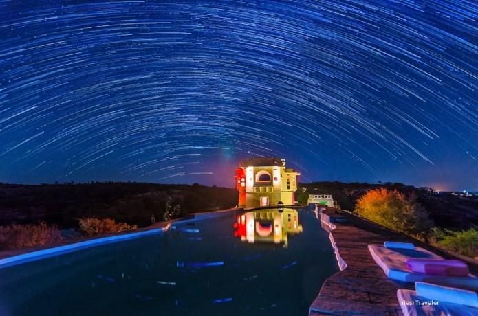 Star Trails Lakshman Sagar Rajasthan