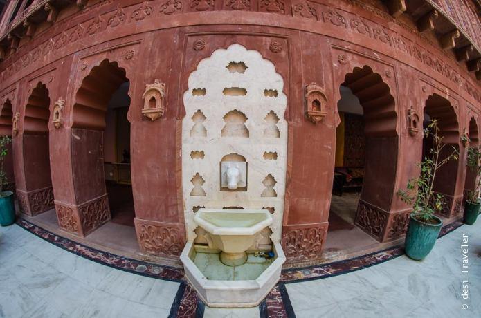 Cow shaped fountain Narendra Bhawan Bikaner