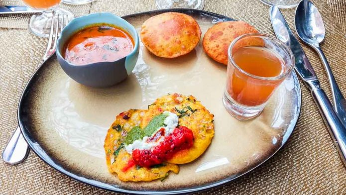 Breakfast Poori Bhaji Narendra Bhawan Rajasthan