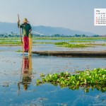 May 2018 Calendar Desktop Wallpaper – Inle Lake Myanmar
