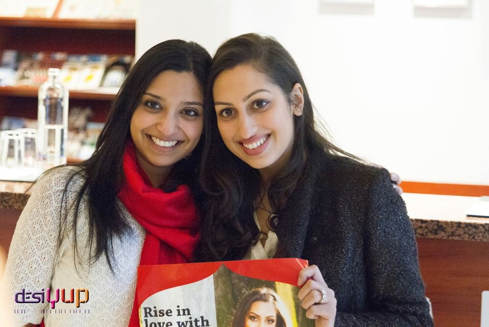 Mahesvari and Shivali posing right after Shivali has arrived in the Netherlands