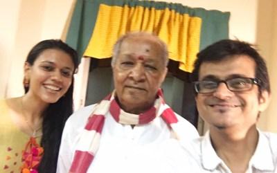 Nirali & Kartik interview Pandit Hariprasad Chaurasia at Vrindavan Gurukul