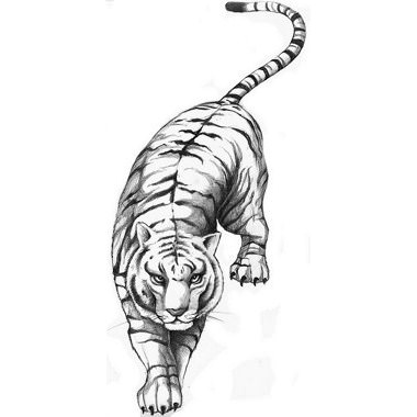 20 Thigh Tattoos Black And White Tiger Ideas And Designs