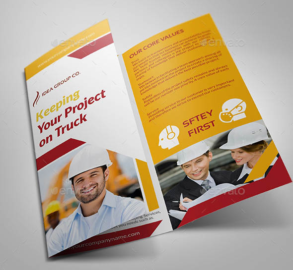 24 Cool Construction Brochure Templates – Desiznworld