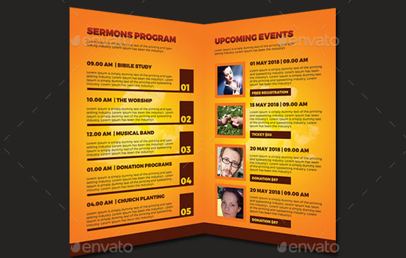 47 Nice Church Brochure Templates PSD & InDesign