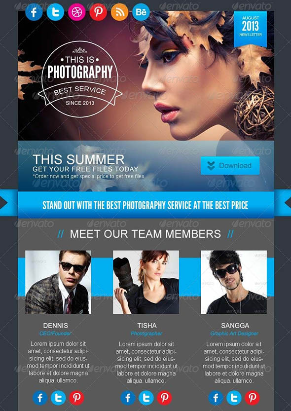 19 Cool Email Newsletter Design Templates  Desiznworld