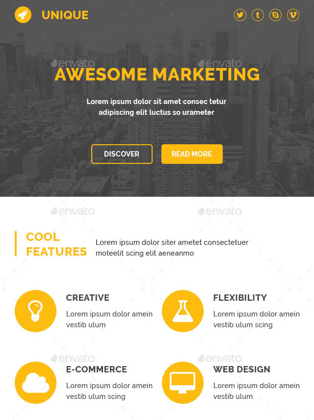 37 Cool Email Newsletter Design Templates  Desiznworld