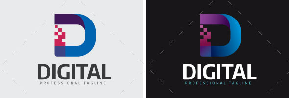 21 Cool Digital Logo Style Vectors Desiznworld