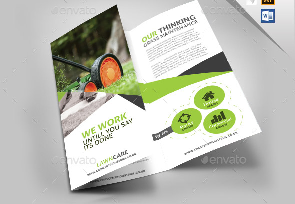 15 Nice Brochure Templates For Garden Service  Desiznworld