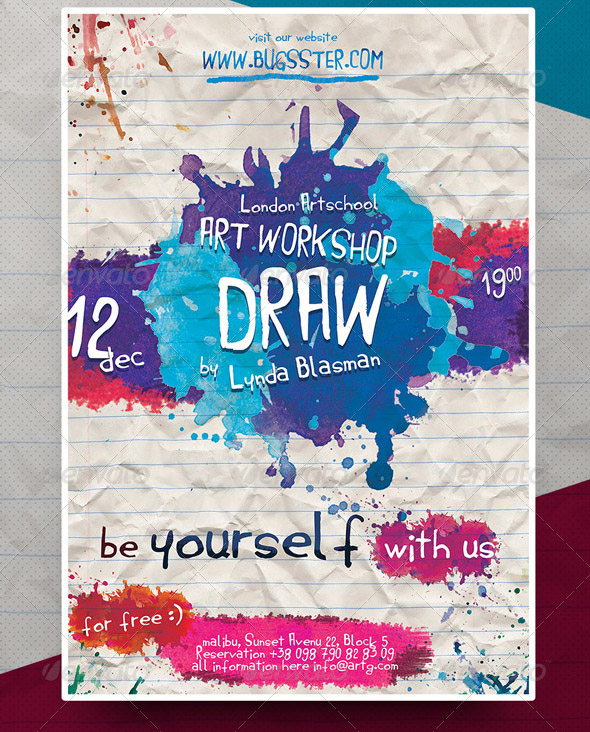 19 Cool Watercolor Flyer Templates – Desiznworld