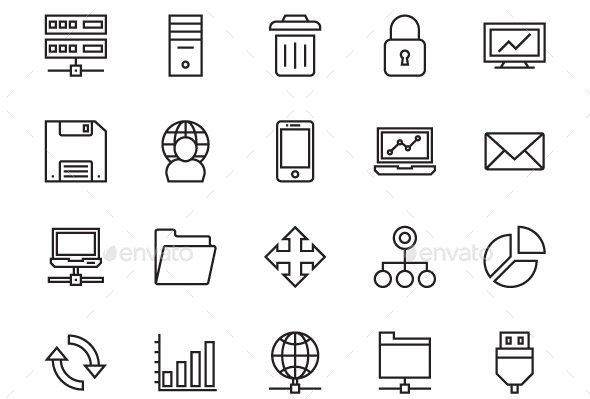 33 Cool Server & DataBase Icons Sets