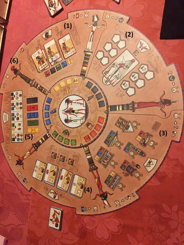 Les 5 quartiers du jeu Pharaon