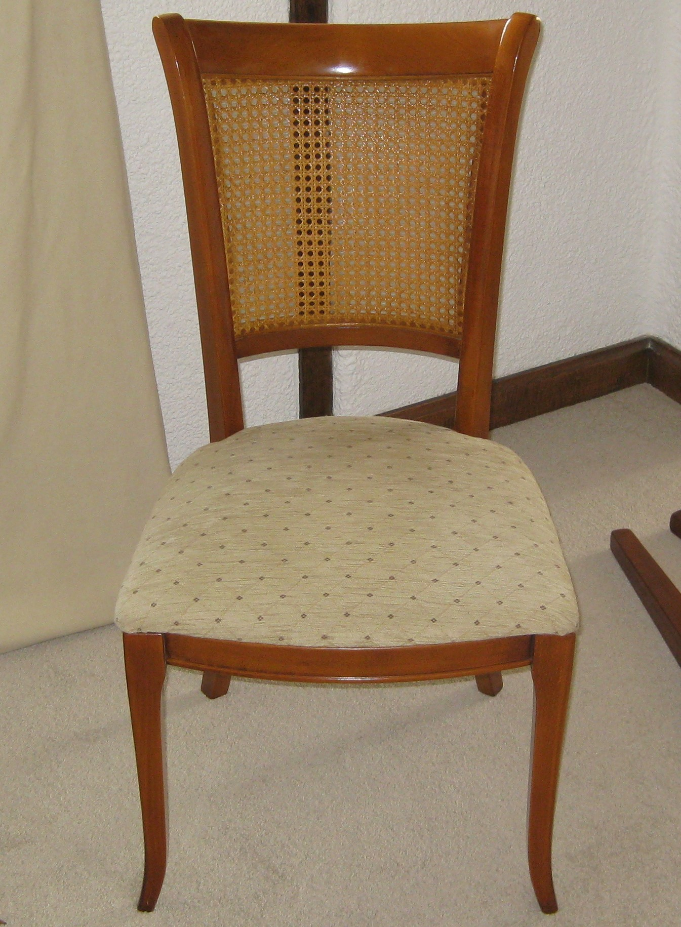 Cherry Wood Dining Chairs Fine Quality Reproduction Set Of Six Cherry Wood Dining