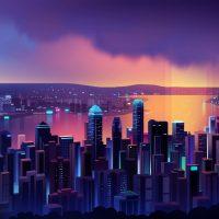 Неоновый город