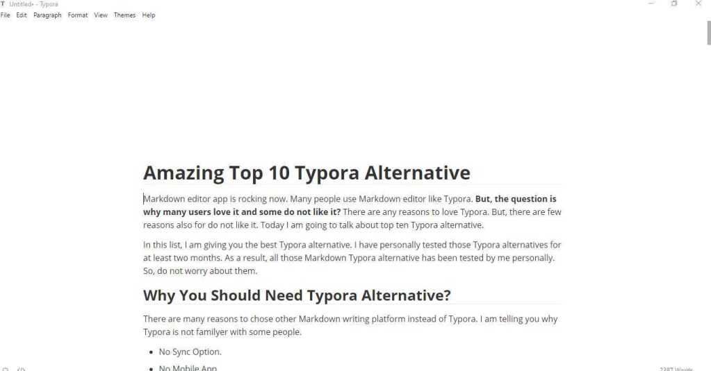 Typora Alternative