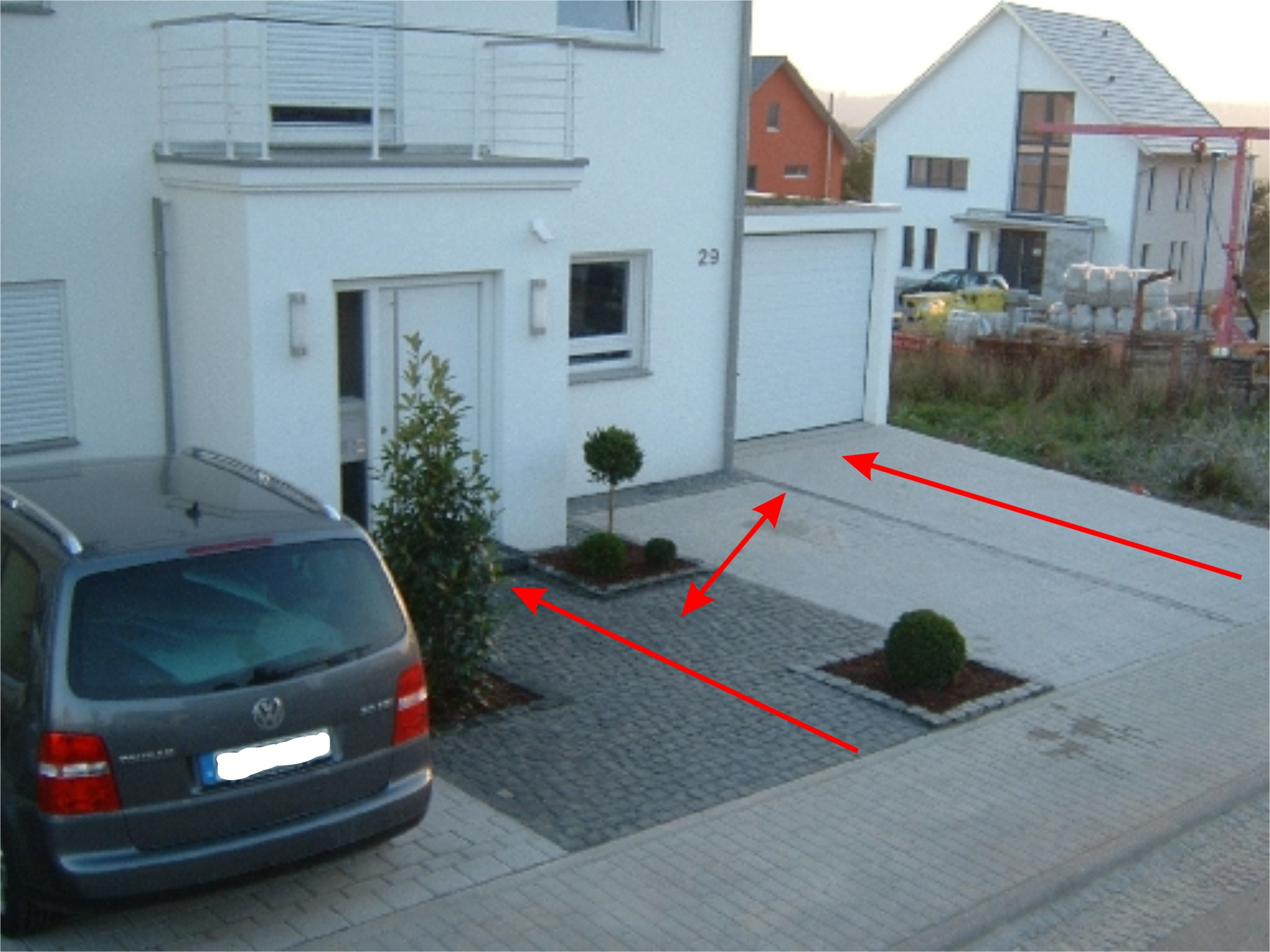 gestaltung vorgarten mit stellplatz - boisholz, Garten und bauen