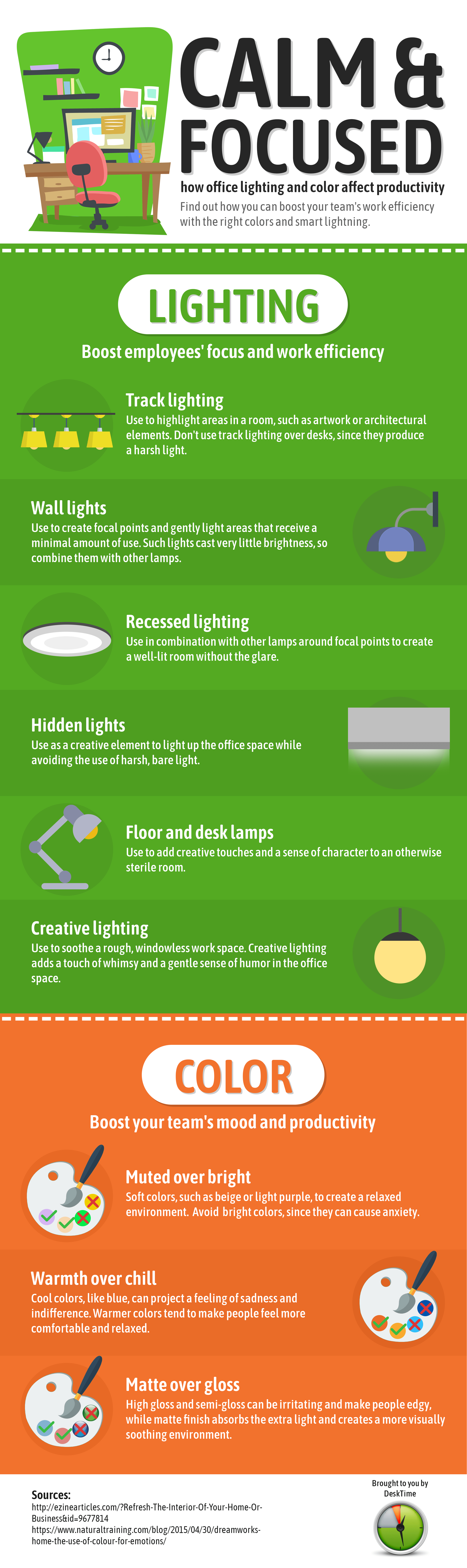 how lighting and color